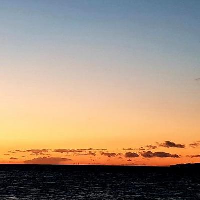 coucher de soleil d'hiver